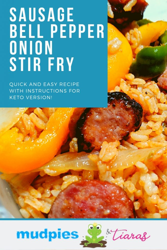 sausage bell pepper and onion stir fry