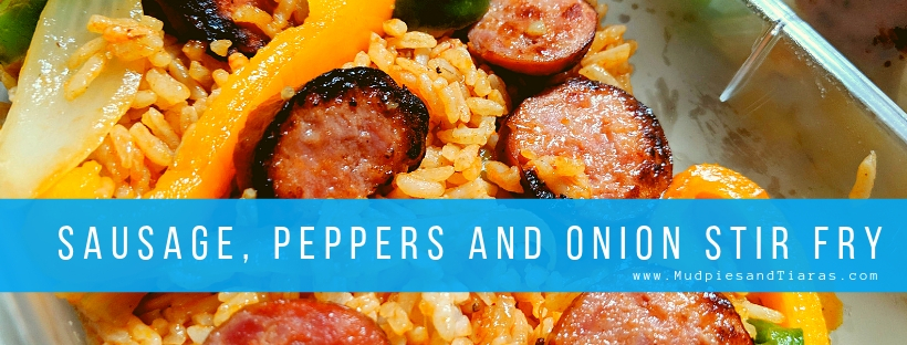 sausage peppers and onion stir fry